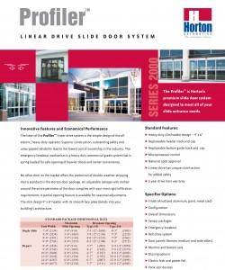 Horton Profiler Slider 1 Automatic Door Installation And