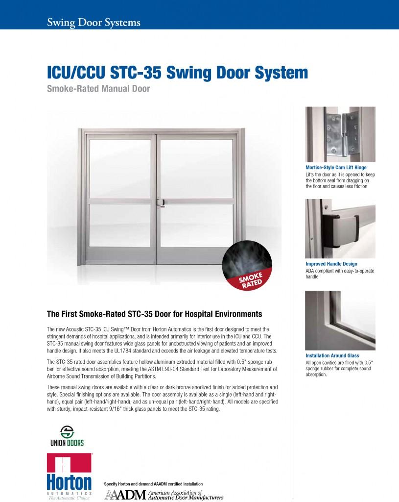 Horton ICU Swing STC 35_UnionDoors 1 815x1024 horton stc 35 door for hospital environments automatic door